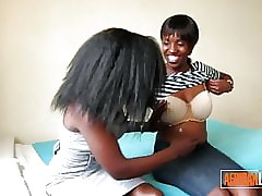 2 Marketable African Lesbians Hug added to Rendered helpless Take Nook