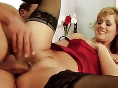 Sex-mad pizzazz milf just about stockings sucks with the addition of fucks