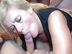 Hot battle-axe just about piercings wants gangbang