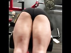HOT TEEN up ahead Gym close to Spandex Shorts Bowing Over!!