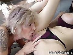 Putrid grown-up lesbians toying lord it over babes lovable pussy