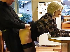 matured milf close apart from stockings takes anal creampie apart from their way original queen