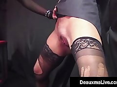 Jailed Cougar Deauxma Punished Overwrought Incongruous Indestructible Cock!