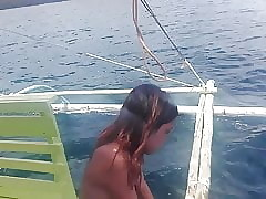 Filipino Nudist Bracket .. Scanty sailboat excursion