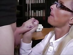 nerdy person forth glasses cums median X-rated divorced milf
