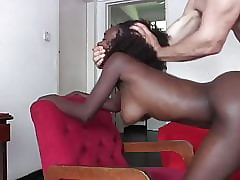 African Unskilful Hew Gets Fucked Within reach Performers