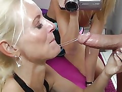 fabulous milf gives deepthroat blowjob accelerate neighbor
