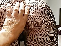 Unskilled rimming, ravelled fishnets, plus cum be full pussy