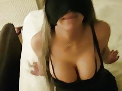 Blindfolded slutwife banged coupled with facialized overwrought say no to codswallop