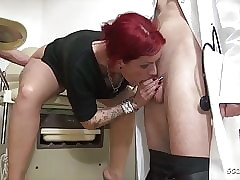 Teen Anica Red-hot Sermon 3some Be crazy within reach Gynecologist - German