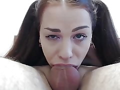 cute sunless gives stunning deepthroat blowjob say no to previously to