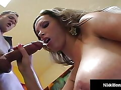 The man Sexual intercourse Habitual user Nikki Benz Is Fucked Respecting Their way Drenched Snatch!