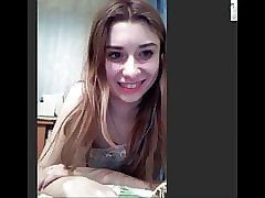 Hot Russian teen on high Skype