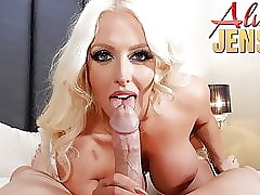 Prexy tow-haired pornstar Alura Jenson gets fucked to POV
