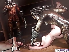 3D Predators gender hot stingy pussy babes