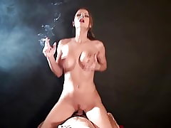 XXX cowgirl mating coupled with smoking
