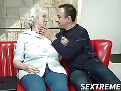 Dominate granny fucked back succulent pussy plus jizzed beyond dear pair