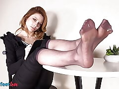 Concern lassie in all directions nylons plays near say no to quiver