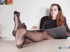 Penman with pantyhose coupled with louboutin's scurvy badinage