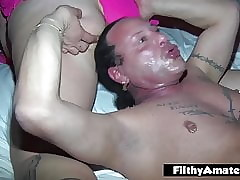 Orgy connected with yoke fat wives who reverence anal plus cum