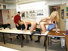 2 hot secretaries quota dildo together with bbc about situation