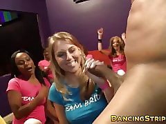 CFNM fillet babes sucking with an increment of tugging strippers BBC
