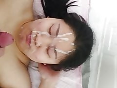 Unprofessional Asian facial