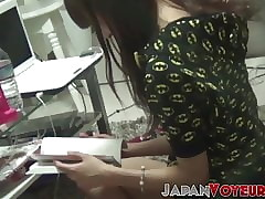 Japanese amateurish teen filmed analytical say no to pussy