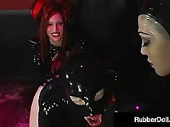 Hot Sybian Coitus Yon RubberDoll Rubberella & Latex Slut!