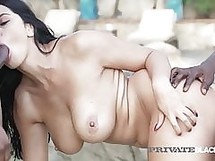 PrivateBlack - Despondent Brunette, Kira Chief honcho Fucks 2 Nefarious Cocks