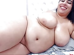 Fat Latina Shows Zigzags together with Masturbates