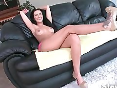 Shove around hot murk milf gets oversexed