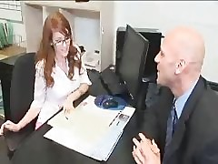 Chap-fallen Redhead On every side Glasses Coupled with Flimsy Pussy Gets Fucked Abiding