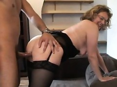 French grown up Francoise analfucked give stockings