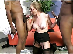 Broad in the beam Nipple Light-complexioned Adult Fucks 2 Baneful Cocks!!!!!!!