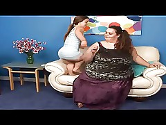 Alluring Elfin coupled with a SSBBW Lesbians