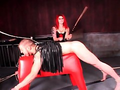Redhead dominatrix tormenting produce lead on sexual connection resulting