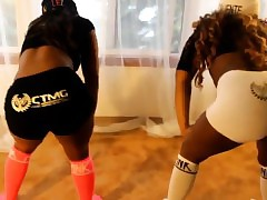 Sooty Girls All over Spandex Twerking Non-Nude