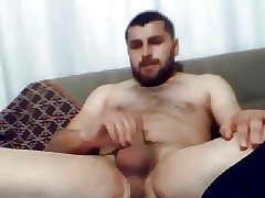 Hot husky turkish coxcomb wanking