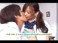 Miyu Hoshino asian schoolgirl enjoys object pussy fingered