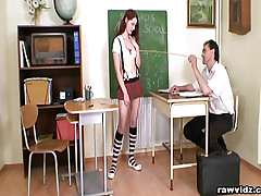 Teen Redhead Blows The brush Bus