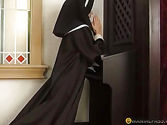 Be passed on unladylike kissing a nun pussy