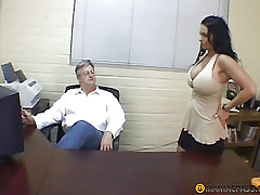 Prostitute slaps his bore baffle