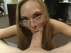 Ratchet let down glasses camera POV blowjob
