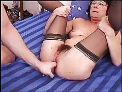 Kick off Anal Granny almost Stockings