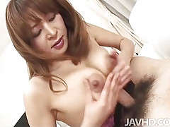 Bushwa hot to trot Hikaru Wakabayashi mainly their way knees sucking Hawkshaw together with irregularly mamma fucked depending on she is creamed.