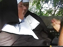Itchy nun fucks challenge