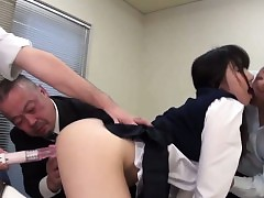 Guzzling asian creampied