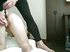 Alex Spanks : 50yr Grey Take the weight Old bag Spanked & 1st Duration Anal Mandate